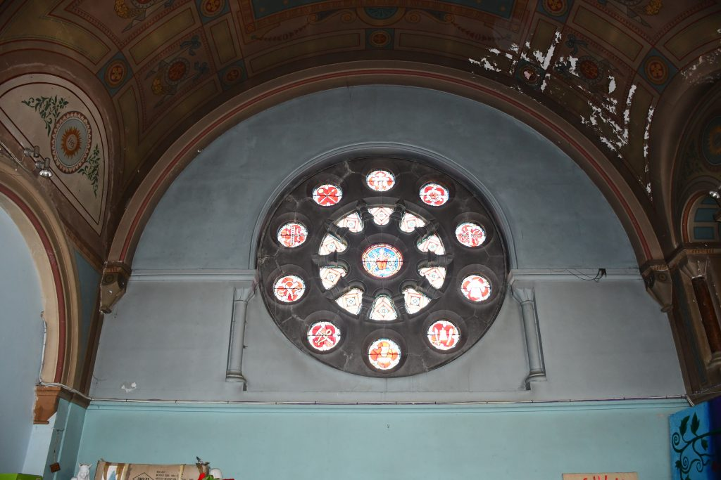 Interior View of Rose Window