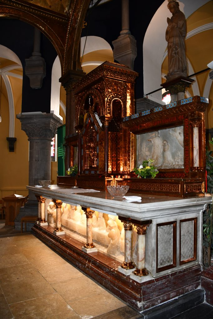 Sligo Cathedral. Altar. Showing Blessed Virgin Mary Sculpture.