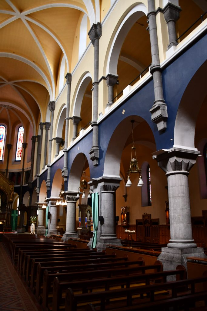 Sligo Cathedral. Interior. Showing Arches and Galleries.