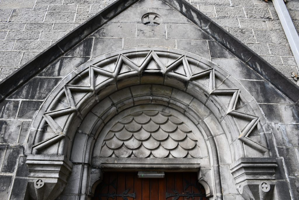 Sligo Cathedral. Side Portal Detail.